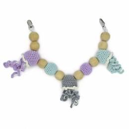 Kit crochet- mobile chaîne pour bébé méduse - 81