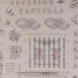 Tissu Yuwa 45% coton 55% lin abécédaire - 82