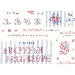 Tissu Yuwa 100% coton abécédaire - 82