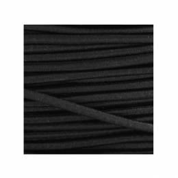 Cordon rond élastique 3mm noir