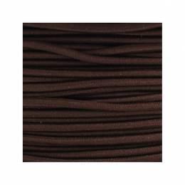 Cordon rond élastique 3mm marron
