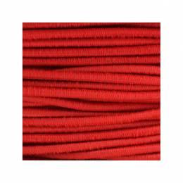 Cordon rond élastique 3mm rouge