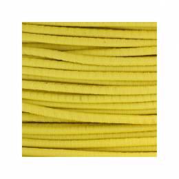 Cordon rond élastique 3mm jaune