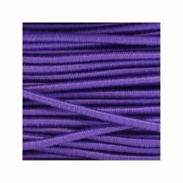 Cordon rond élastique 3mm violet