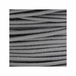 Cordon rond élastique 3mm gris
