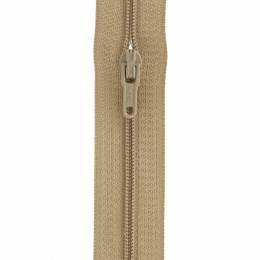 Fermeture fine nylon 4mm + 3 curseurs/m beige moye - 91