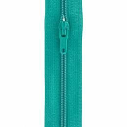 Fermeture fine nylon 4mm + 3 curseurs/m vert d'eau - 91