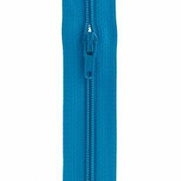Fermeture fine nylon 4mm + 3 curseurs/m turquoise - 91