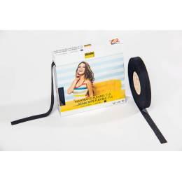 Flexibel droit fil souple noir 1,5cm/100m - 96