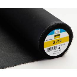 Entoilage Vlieseline tissé coton thermo 90cm noir - 96
