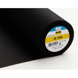 Entoilage Vlieseline coton gratté 90cm noir - 96