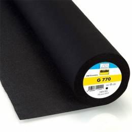 Entoilage tissé thermo bi-élastique noir - 96