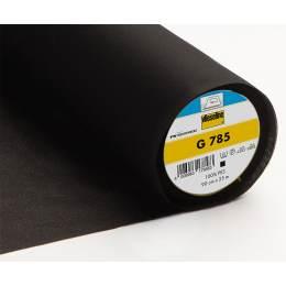 Entoilage tissé stretch très fin thermo 90cm noir - 96