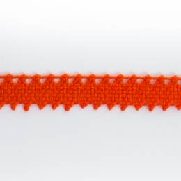 Dentelle 100 % coton orange - 0,9 cm