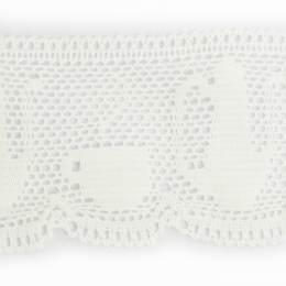 Dentelle 100 % coton blanc - 8 cm