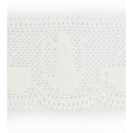 Dentelle 100 % coton blanc -5 cm
