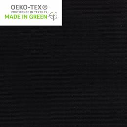 Tissu toile de coton noir - 98