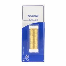 Fil métal gros 20m or (laiton) blister - 99