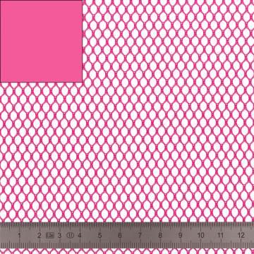Tissu filet Mesh Fabric fushia - 40
