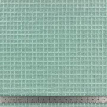 Tissu éponge en nid d'abeille bio vert tilleul - 401