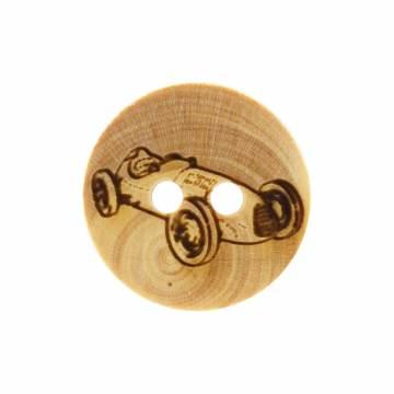 Bouton voiture gravée en bois - 408