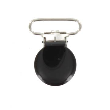 Pince bretelle attache noir 25mm - 408