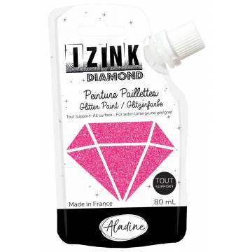 Izink diamond peinture paillette fushia 80ml - 470